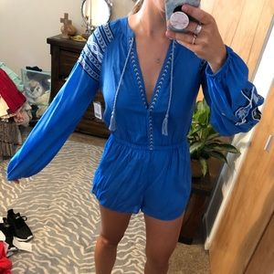NWT Out from Under Blue Romper
